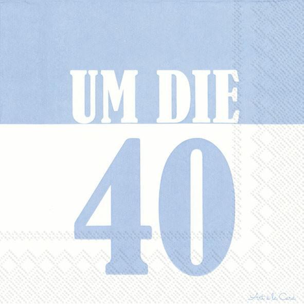 Partytischdecke.de | IHR Serviette 33x33 UM DIE 40 light blue