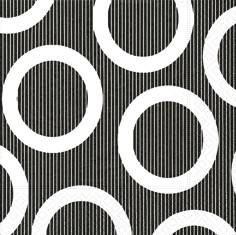 Partytischdecke.de | Servietten 40x40 Circle black 20 Stück