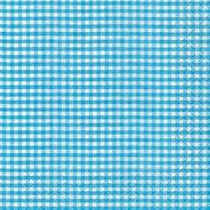 Partytischdecke.de | Servietten 33x33 Vichy turquoise 20 Stück