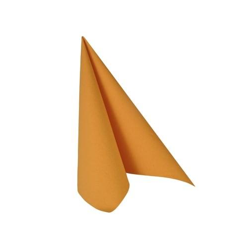 Partytischdecke.de   Serviette 25x25 Royal orange 20 Stück