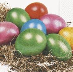 Partytischdecke.de | Servietten 33x33 Shining Eggs 20 Stück