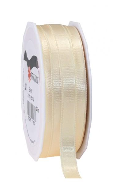 Partytischdecke.de | Satin Band 10 mm x 25 m ivory