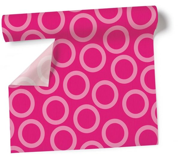 Partytischdecke.de | Tischdecke 1,2 x 5 m Circle pink