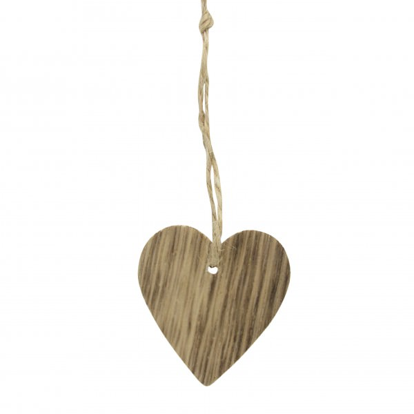 Holz Herzen mit Jutebändchen Ø 5 cm 24 Stück