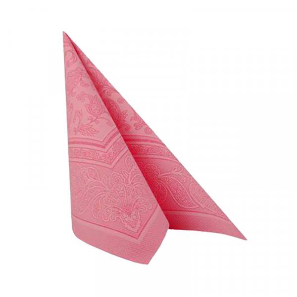 Partytischdecke.de | 20 Servietten 40x40 Royal rosa ornament