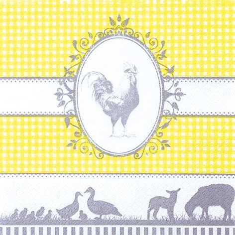Partytischdecke.de | Servietten 33x33 Country Yellow