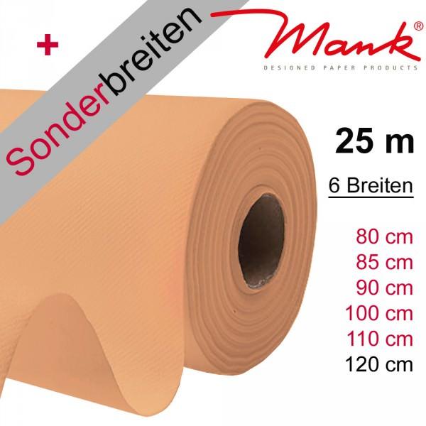 Partytischdecke.de | Tischdecke Mank Linclass apricot 25 m x Breite