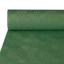 Partytischdecke.de | Papiertischdecke Damastprägung 1 m x 50 m dunkelgrün