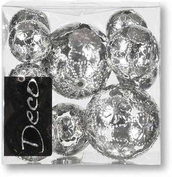 Partytischdecke.de | Metallkugel-Set Marrakesch silber 11-teilig