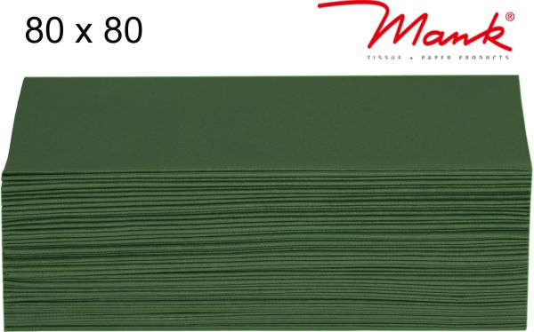 Partytischdecke.de | Mitteldecke 80 x 80 cm Mank Linclass dunkelgrün