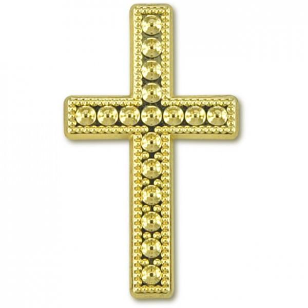 Deko-Kreuz Gold Größe 30x12 15 Stück