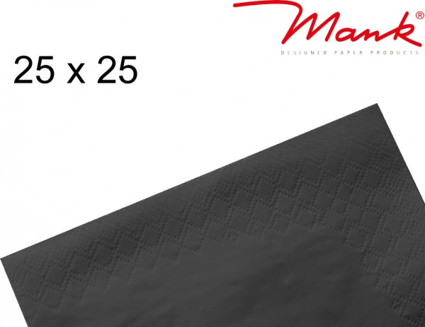 Partytischdecke.de | Serviette Mank 25x25 Tissue schwarz